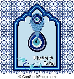 Welcome to Turkey greeting cart template with turkish...