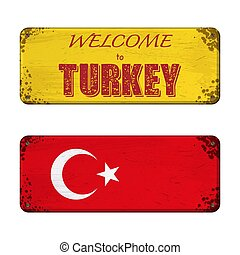 Welcome to Turkey nameplate