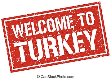 welcome to Turkey stamp