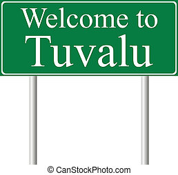 Welcome to Tuvalu, concept road sign