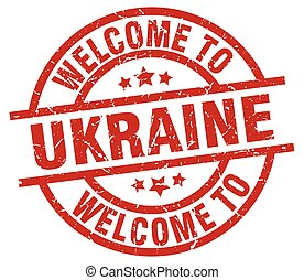 welcome to Ukraine red stamp