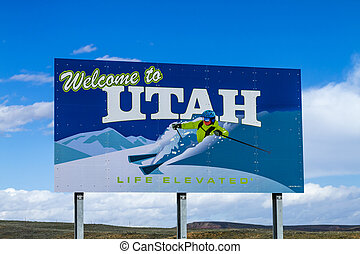 Welcome to Utah Highway Sign
