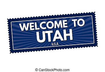Welcome to Utah travel sticker or s