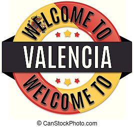 welcome to VALENCIA spain flag icon