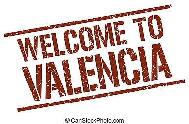 welcome to Valencia stamp