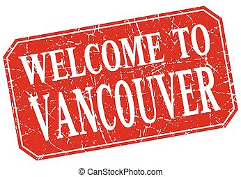 welcome to Vancouver red square grunge stamp