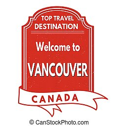 Welcome to Vancouver stamp