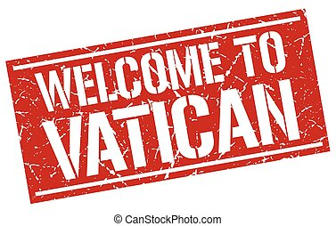 welcome to Vatican stamp