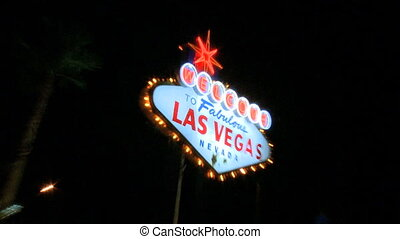 Welcome to Vegas sign at night - zoom in/out (1 of 2)