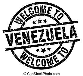 welcome to Venezuela black stamp