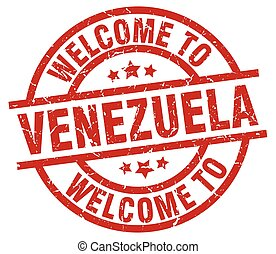 welcome to Venezuela red stamp