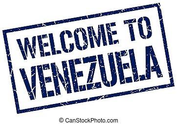 welcome to Venezuela stamp