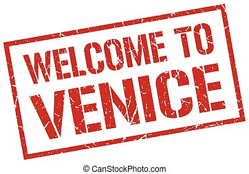 welcome to Venice stamp