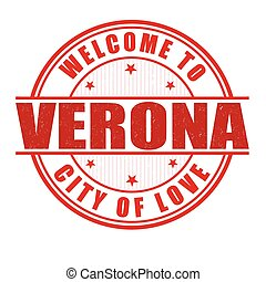 Welcome to Verona stamp