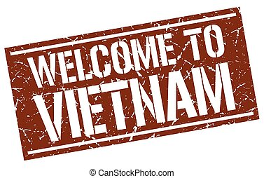 welcome to Vietnam stamp