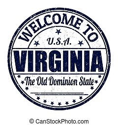 Welcome to Virginia stamp