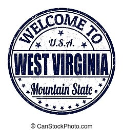 Welcome to West Virginia stamp
