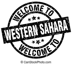 welcome to Western Sahara black stamp