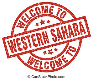 welcome to Western Sahara red stamp