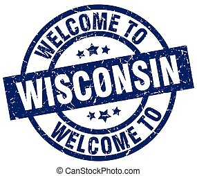 welcome to Wisconsin blue stamp