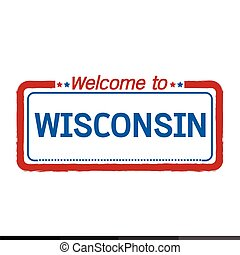 Welcome to WISCONSIN of US State illustration design