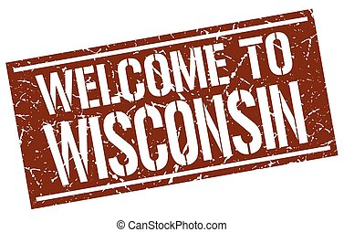 welcome to Wisconsin stamp