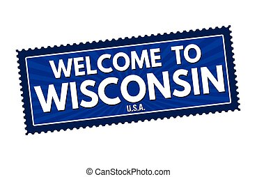 Welcome to Wisconsin travel sticker