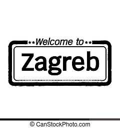 Welcome to Zagreb city illustration design