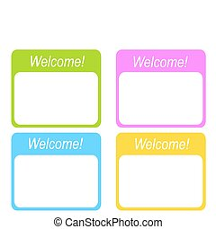 Welcome - Frames for the invitation on a white background