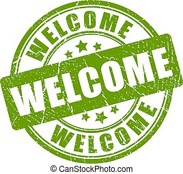 Welcome vector stamp