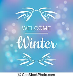 Welcome winter card design