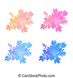 Welcome Winter Watercolor Collection handmade autumn leaves and flowers