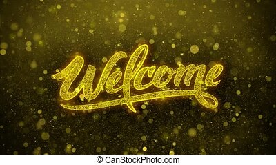 Welcome Wishes Greetings card, Invitation, Celebration Firework