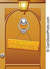 Welcoming Halloween - illustration of happy halloween tag...