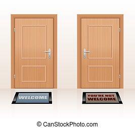 Welcoming Not Welcome Doors