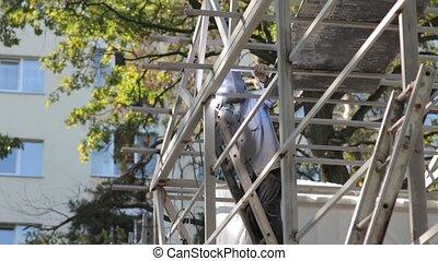 Welder At Building Construction - Welder at building...