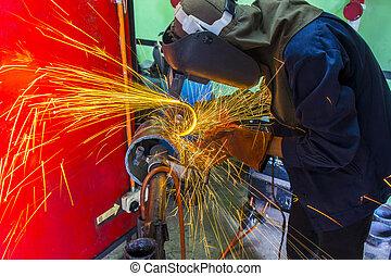 welder at workshop