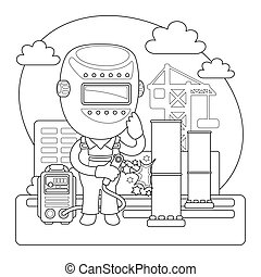 Welder Coloring Page