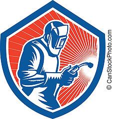 Welder Fabricator Welding Torch Side Shield Retro - ...