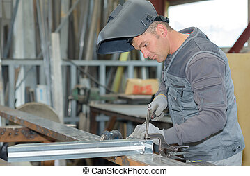 welder focused on his work