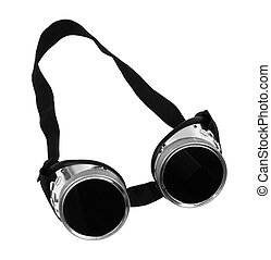 welder goggles - isolated on the white background (focus on...