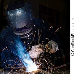 Welder, Hard job construction and manufacturing