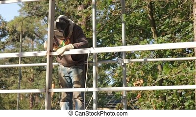 Welder On Building Construction - Welder on building...