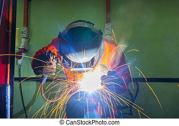 welder on location