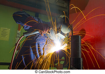 welder on location - welder at work on location