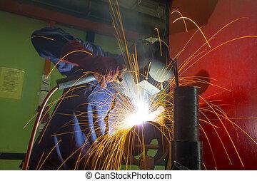 welder on location - welder at work on location