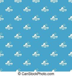 Welder pattern vector seamless blue