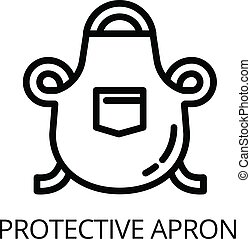 Welder protective apron icon, outline style - Welder...