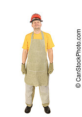 Welder with apron