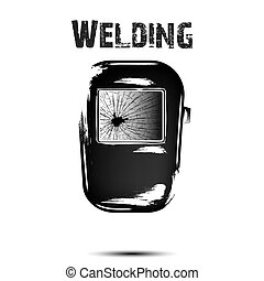 Welding and abstract mask of a welder